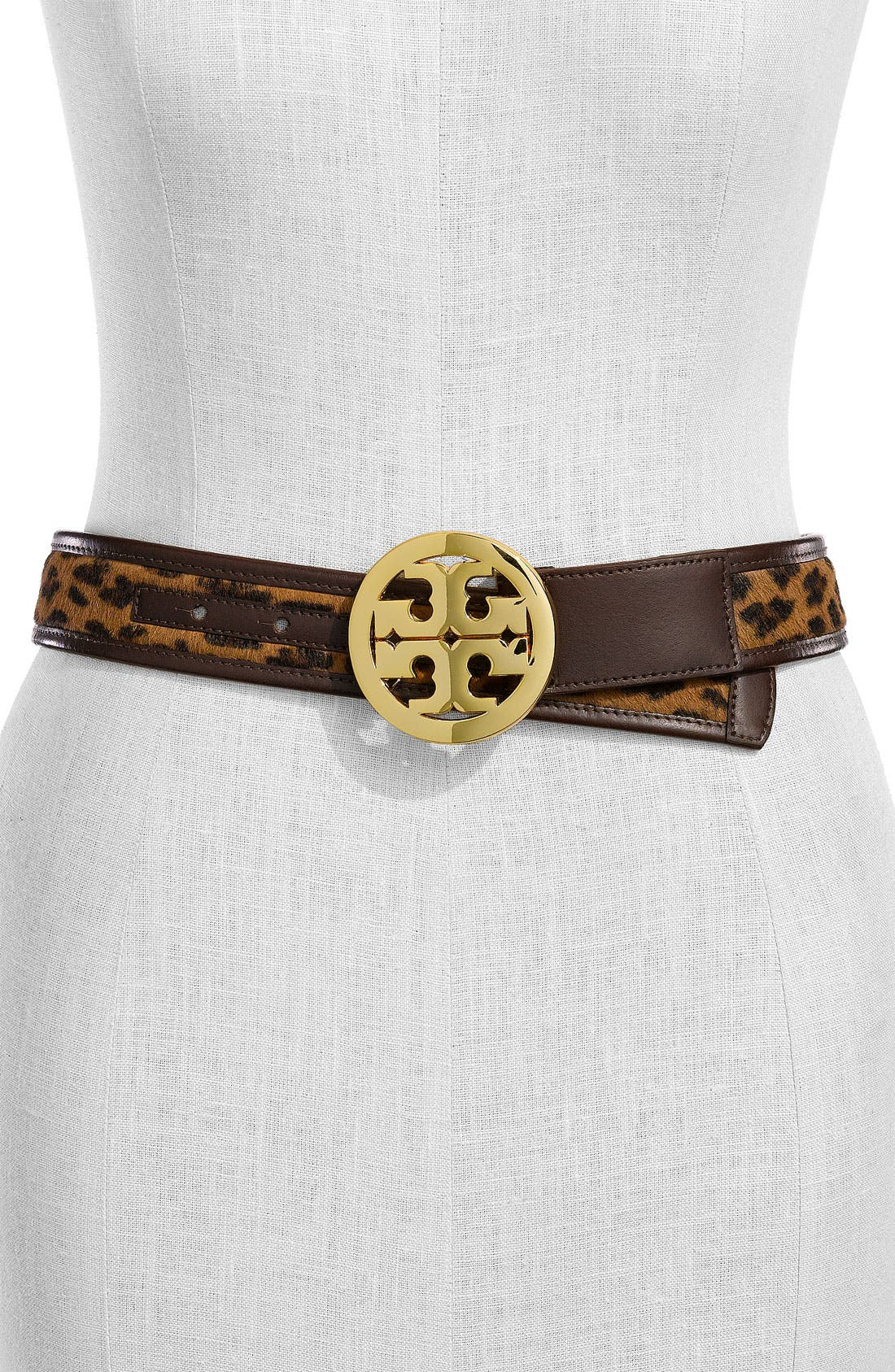 Alternate Image 1 Selected - Tory Burch 'Logo' Leather Belt