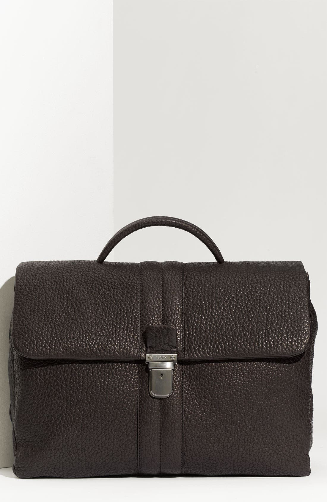 Alternate Image 1 Selected - Tod's Pebbled Leather Briefcase