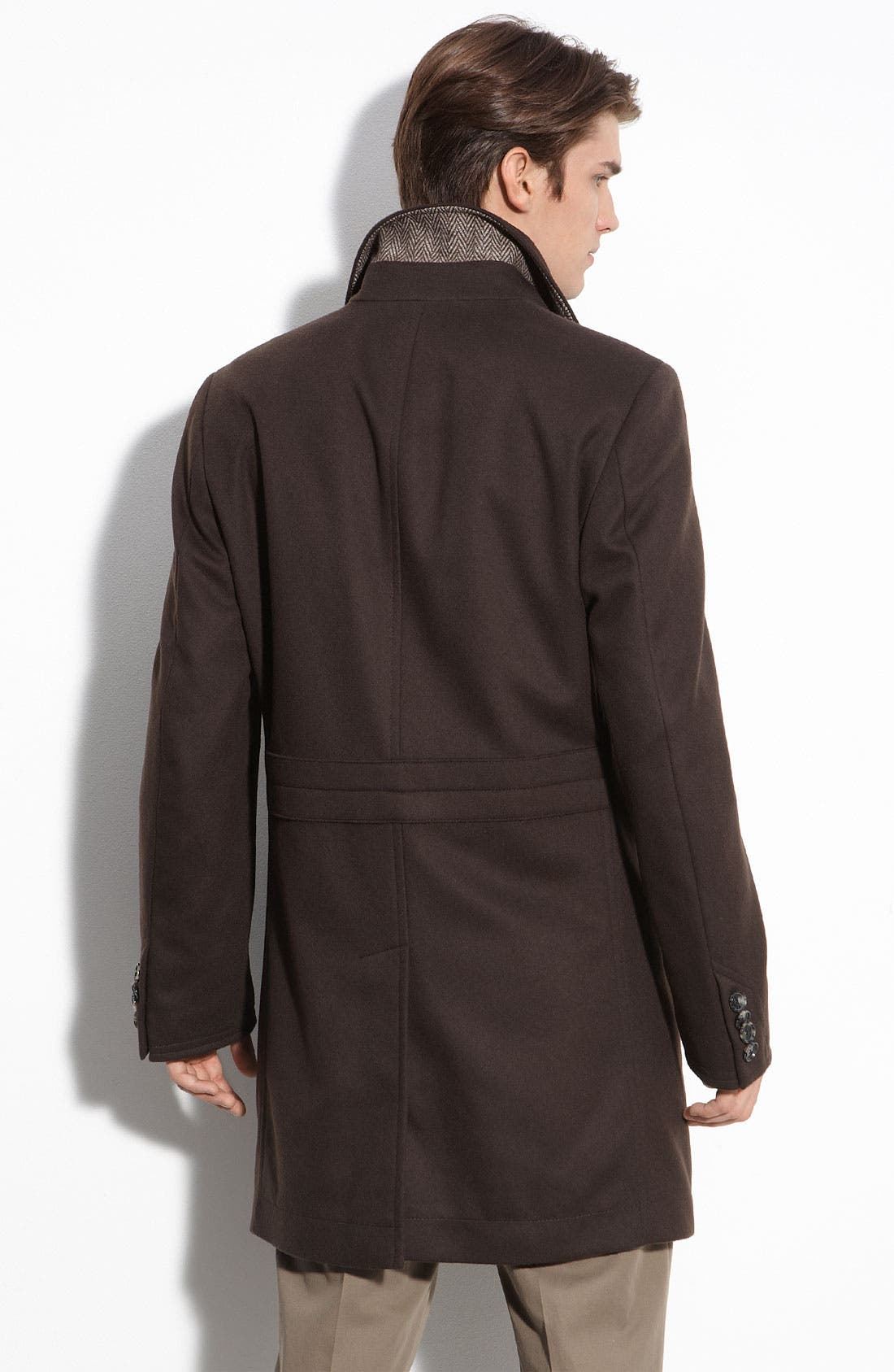 Alternate Image 2  - BOSS Black 'Task' Brown Wool Coat
