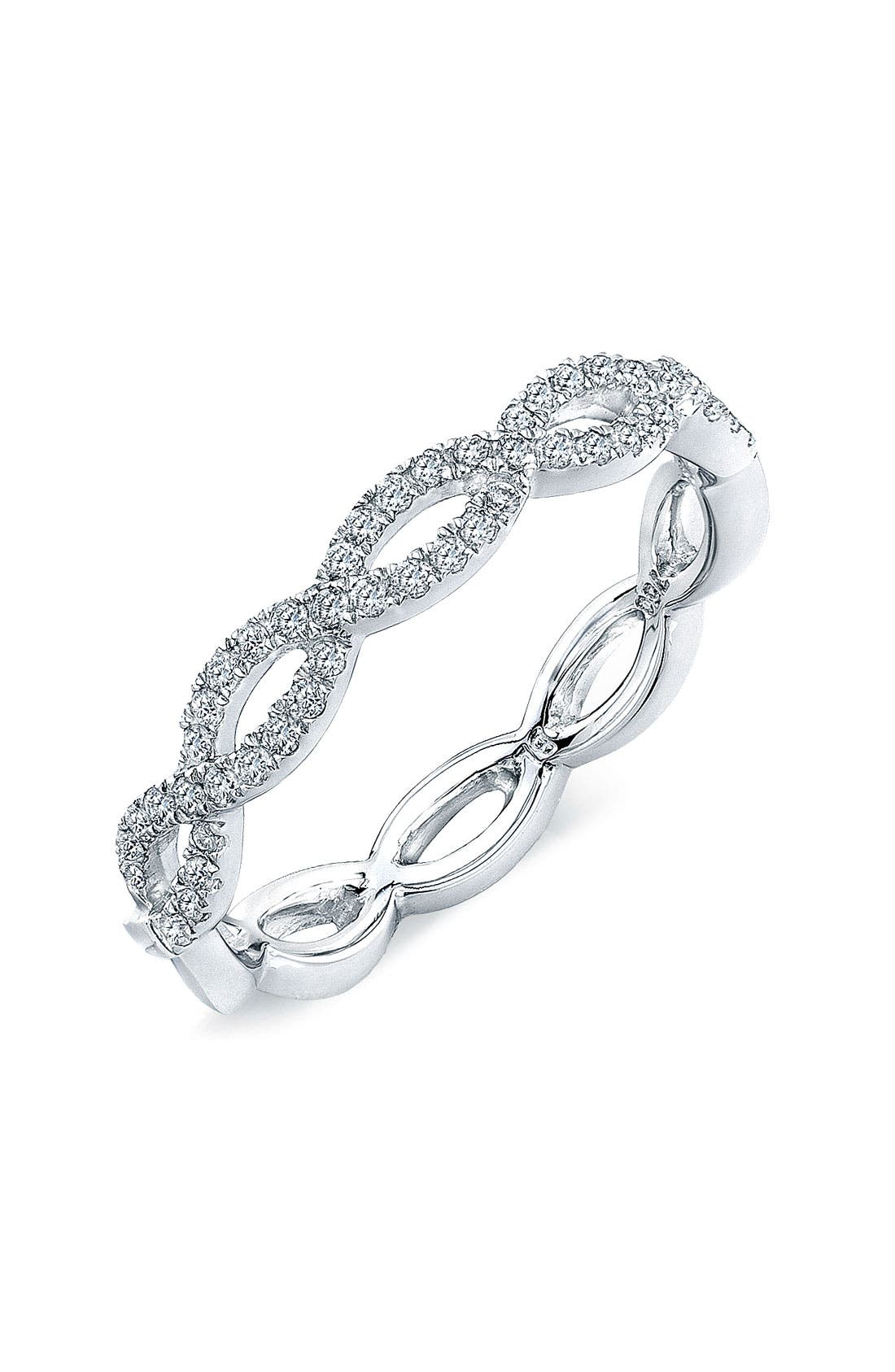 Main Image - Bony Levy Stackable Diamond Weave Ring (Nordstrom Exclusive)