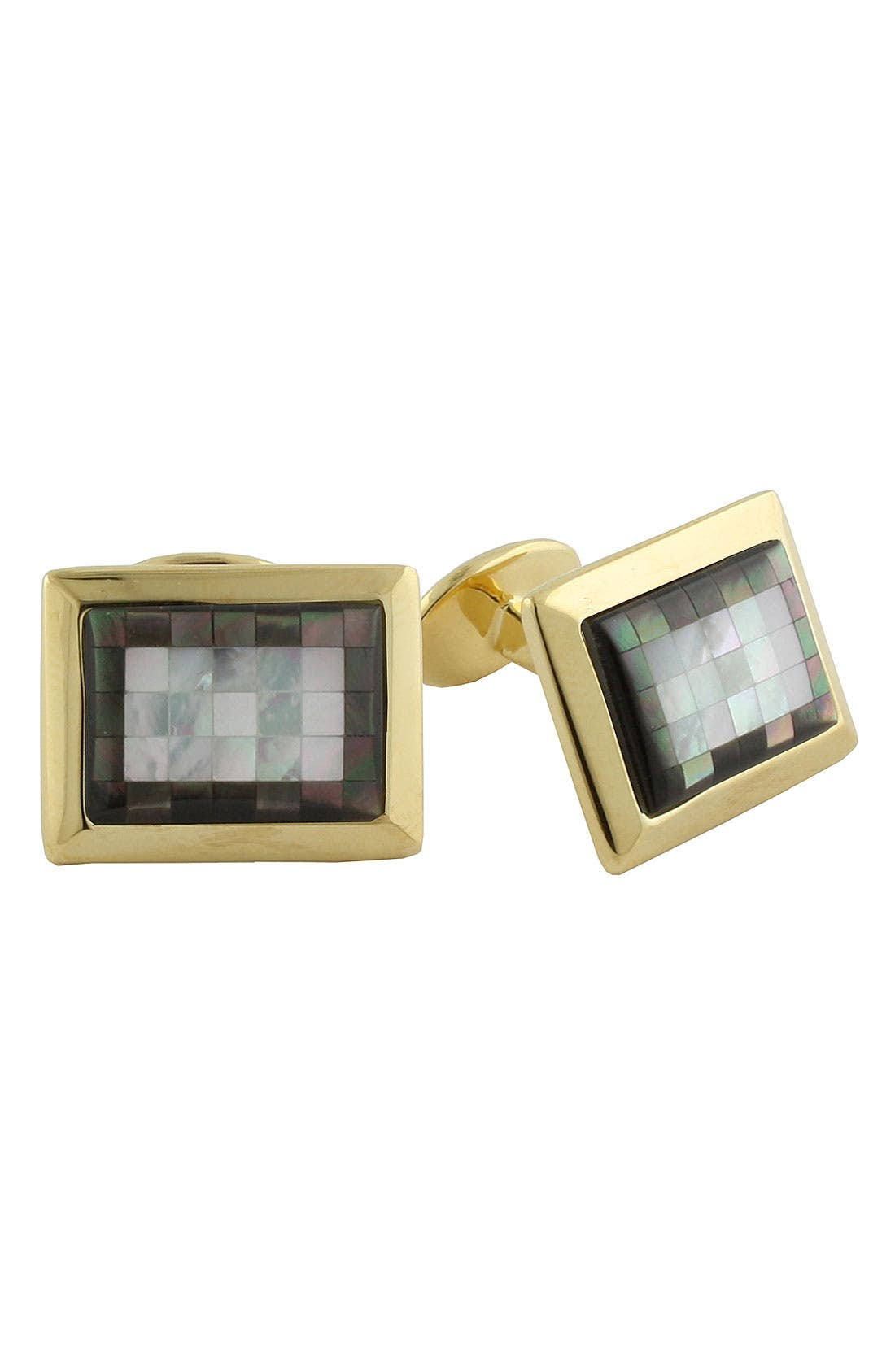 Main Image - David Donahue Rectangular Vermeil Cuff Links