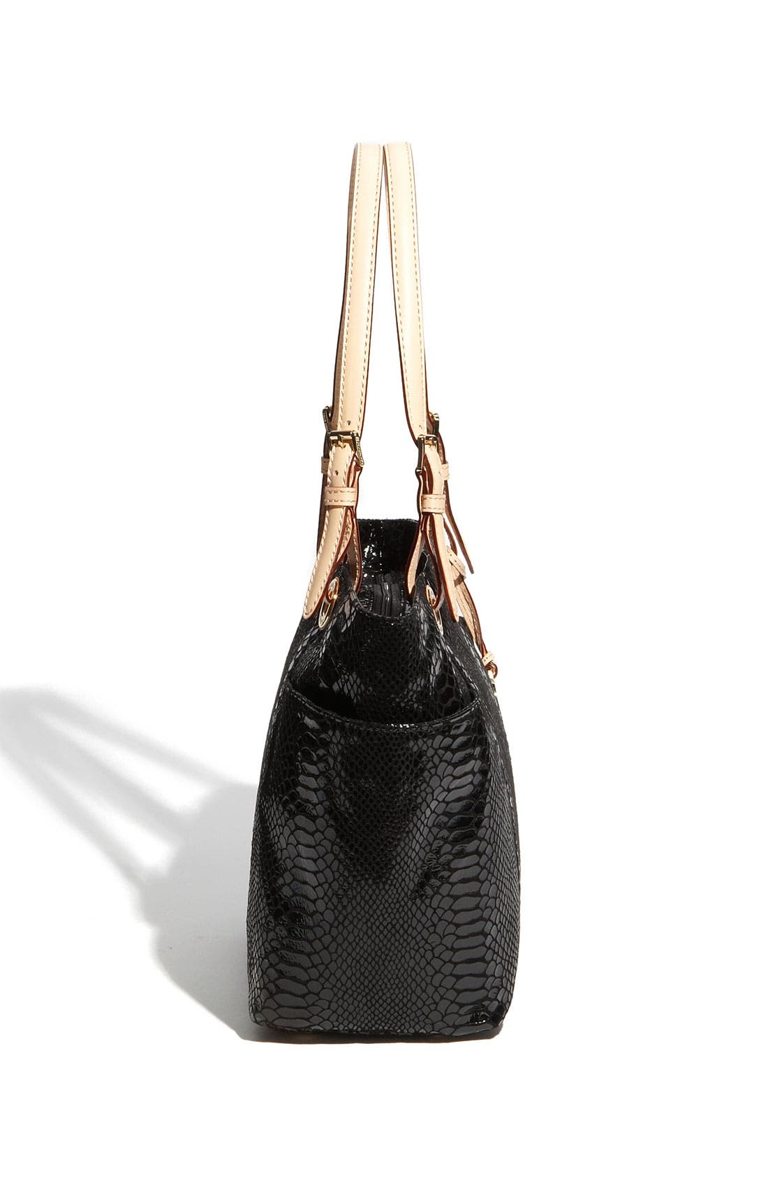 Alternate Image 2  - MICHAEL Michael Kors 'Jet Set' Python Embossed Patent Tote, Small