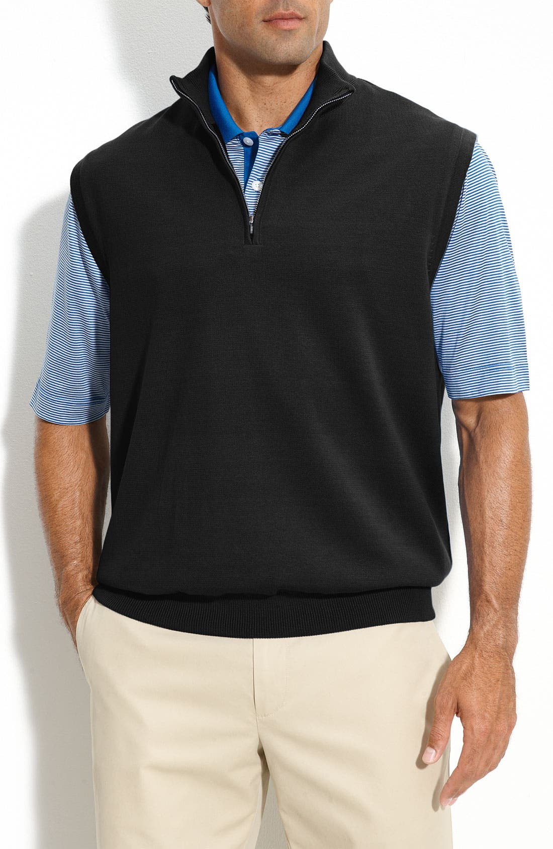 Main Image - Cutter & Buck 'Sandpoint' Half Zip Golf Vest
