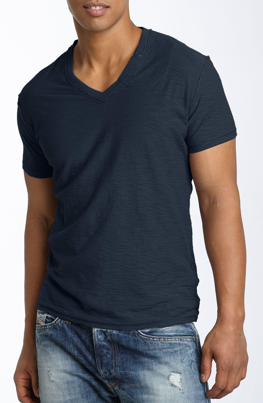 Alternate Image 1 Selected - DIESEL® 'TOS' Extra Trim Fit V-Neck Slub T-Shirt