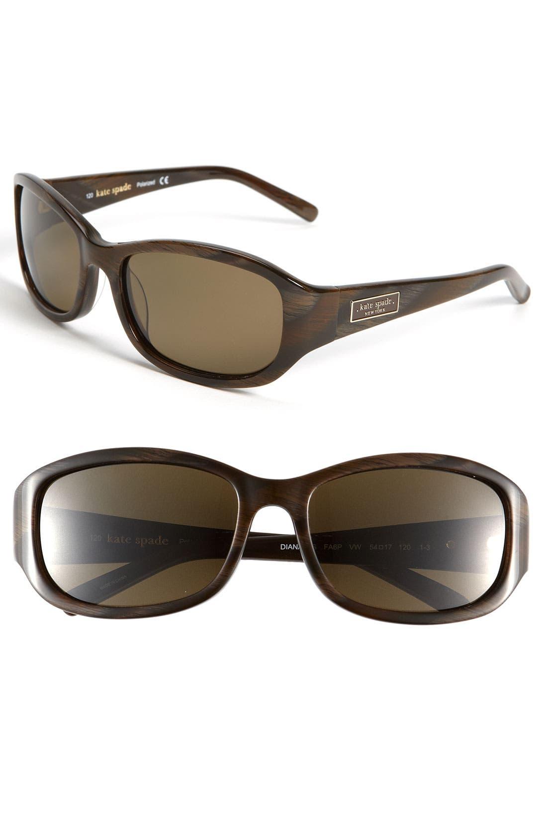 Main Image - kate spade new york 'diana' 54mm polarized sunglasses