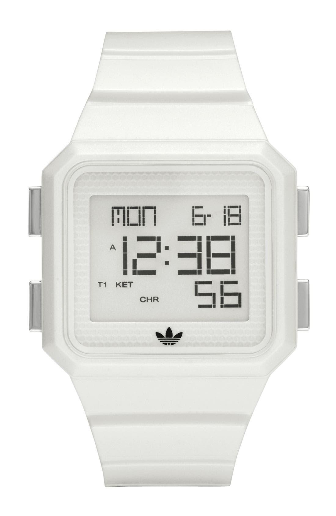 Main Image - adidas Originals 'Peachtree' Digital Watch, 46mm x 39mm