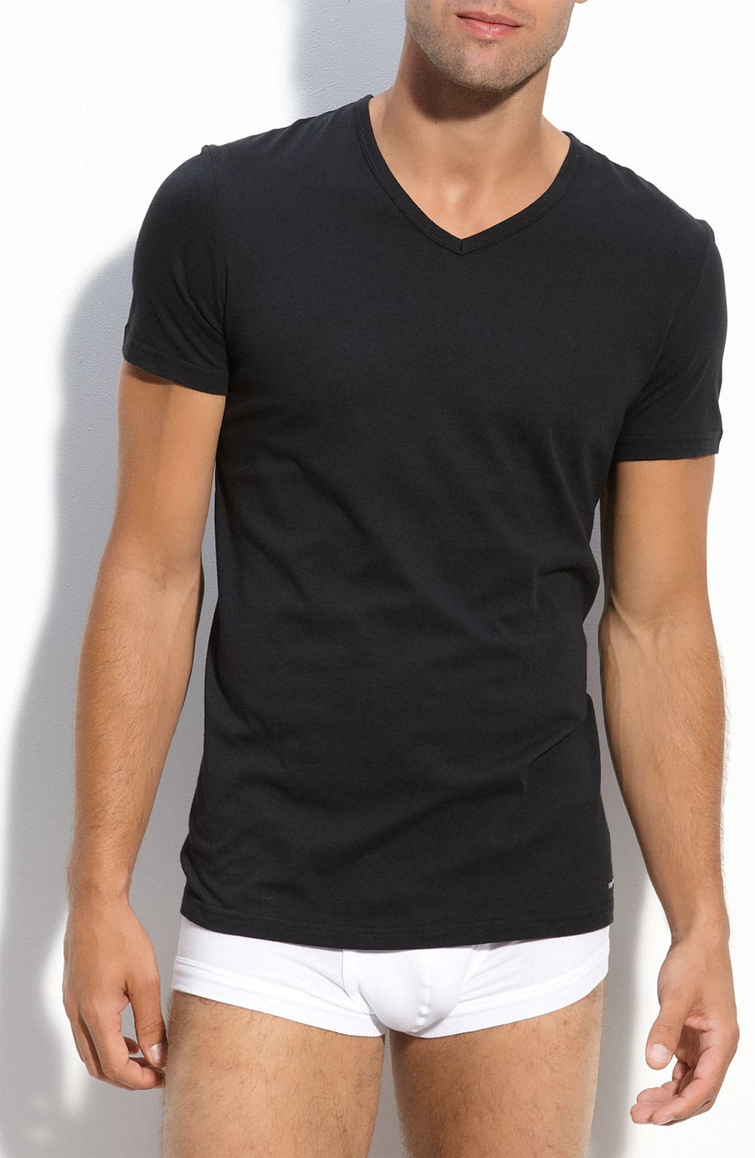 Alternate Image 1 Selected - Emporio Armani V-Neck T-Shirt (3-Pack)