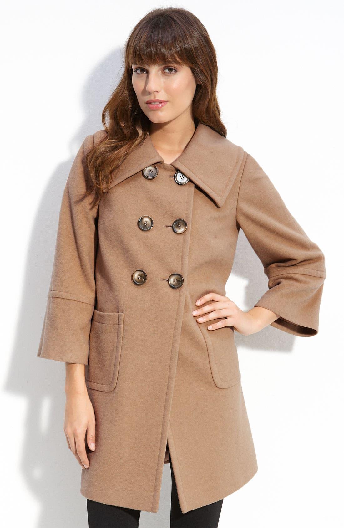 Main Image - Helene Berman Double Breasted Wool Blend Coat