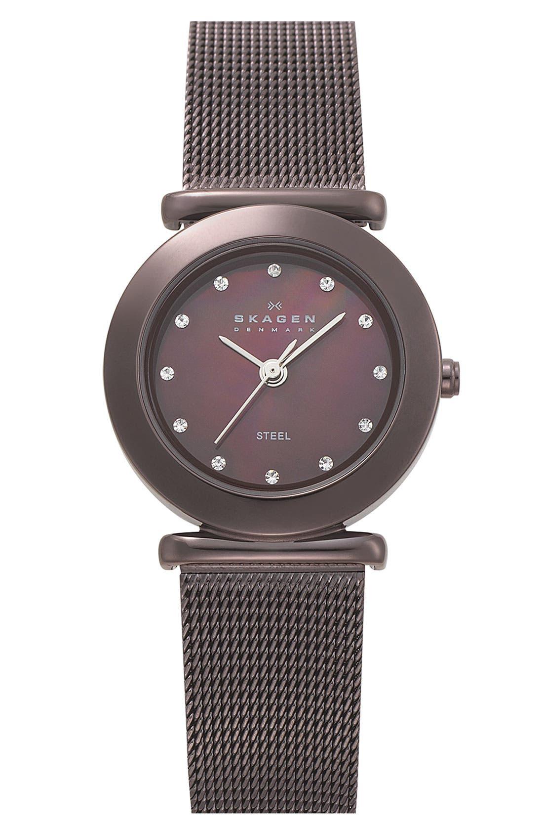 Alternate Image 1 Selected - Skagen Ladies' Mesh Strap Watch, 25mm