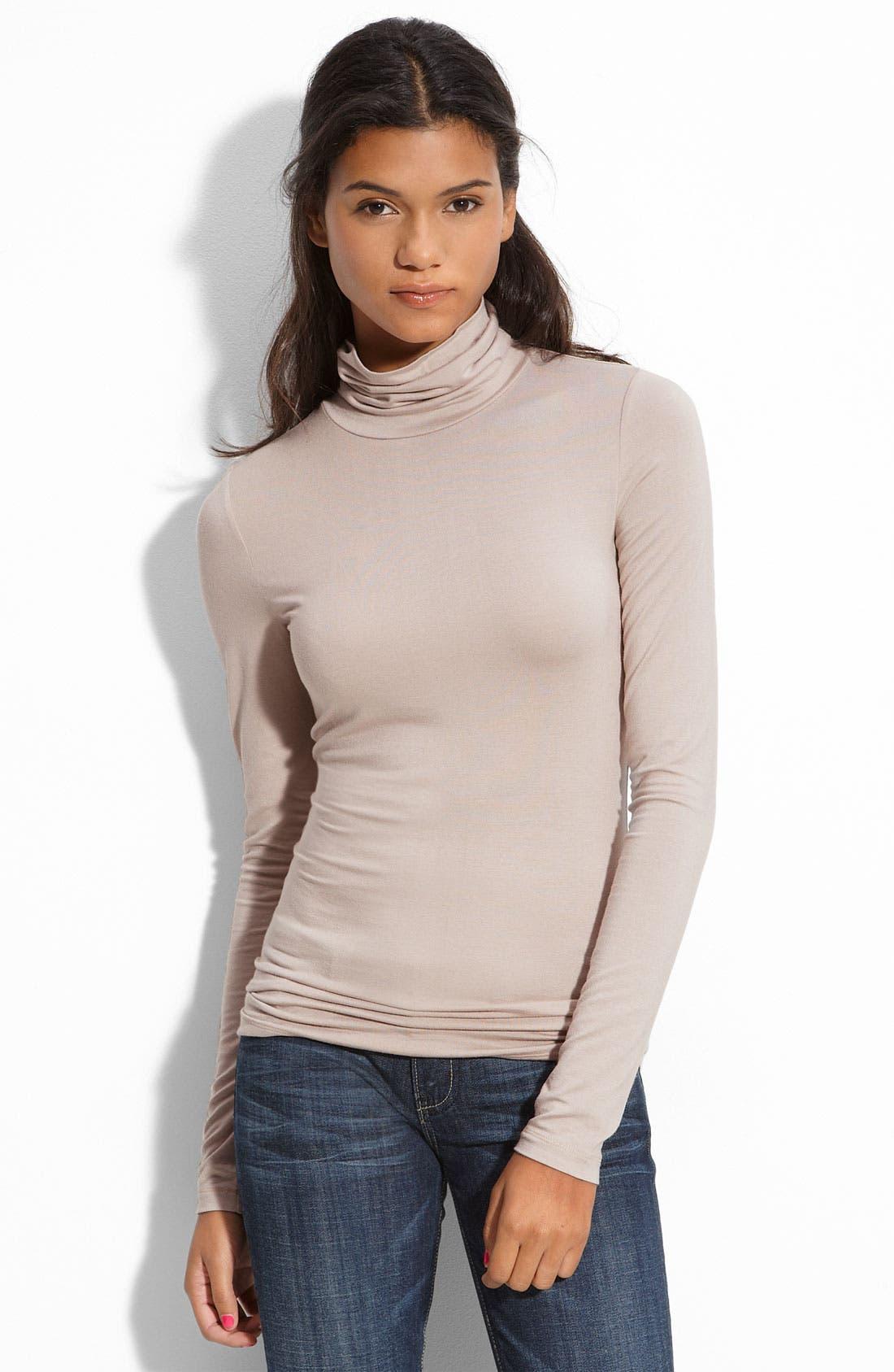 Main Image - Frenchi® Long Sleeve Turtleneck (Juniors)