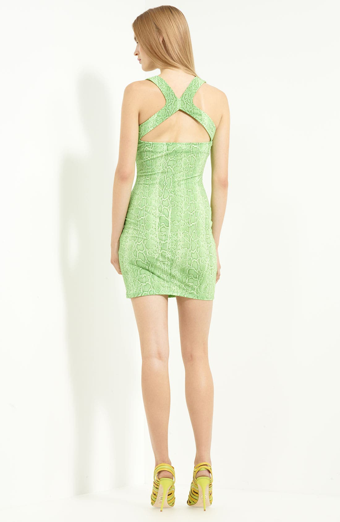 Alternate Image 2  - Roberto Cavalli Square Neck Jersey Dress