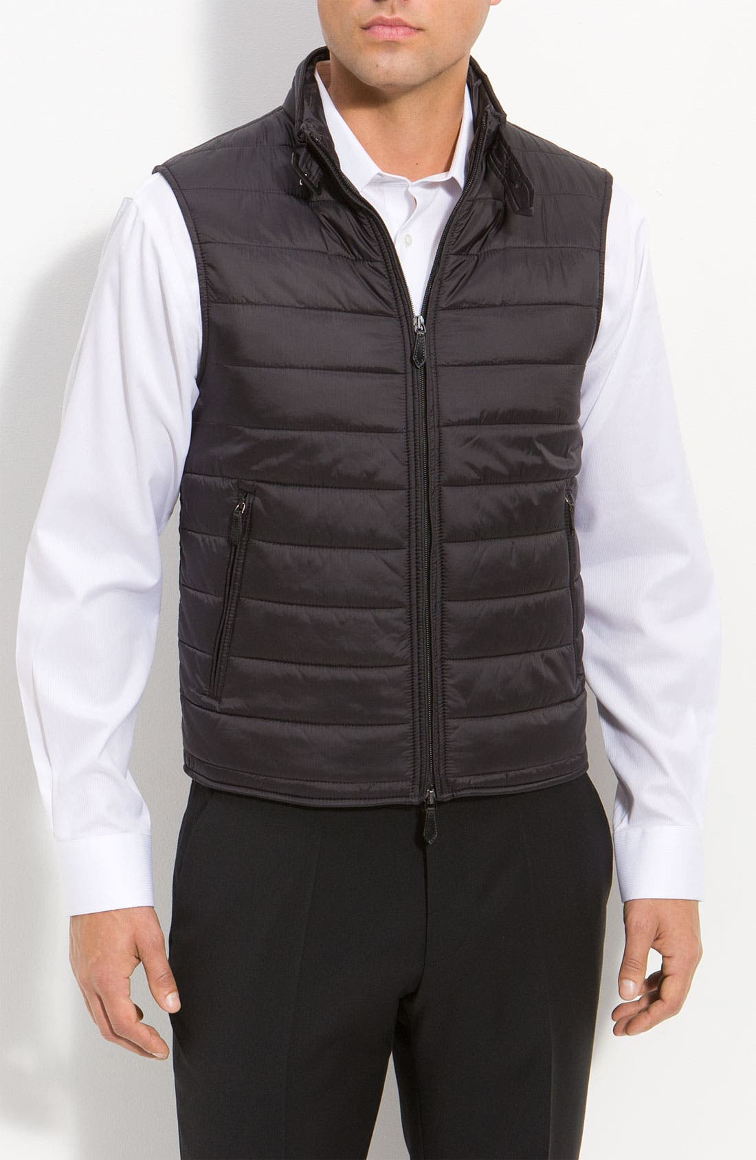 Alternate Image 2  - Burberry London Layered Sport Vest & Overcoat