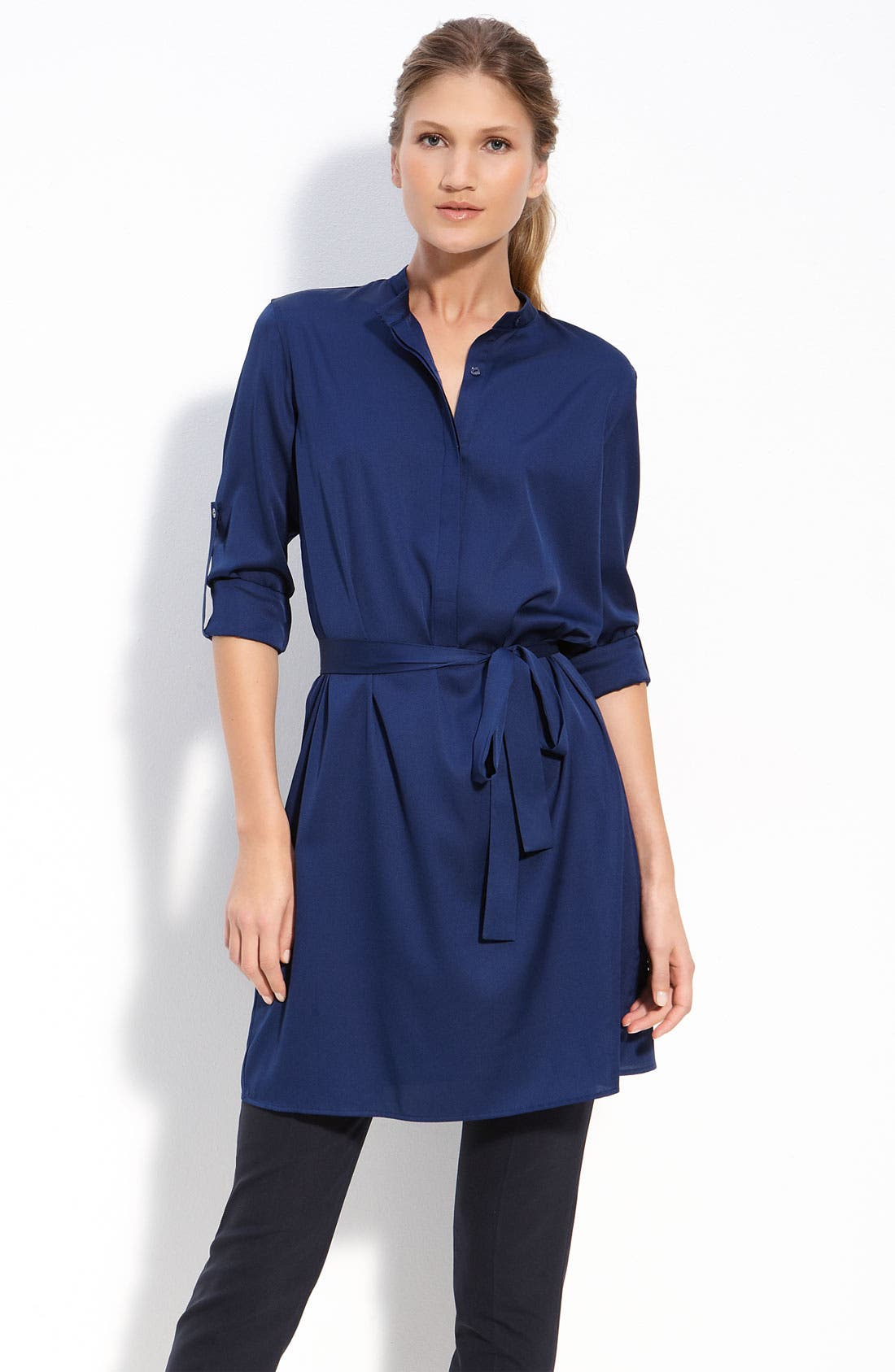 Alternate Image 1 Selected - Vince Silk Shirtdress