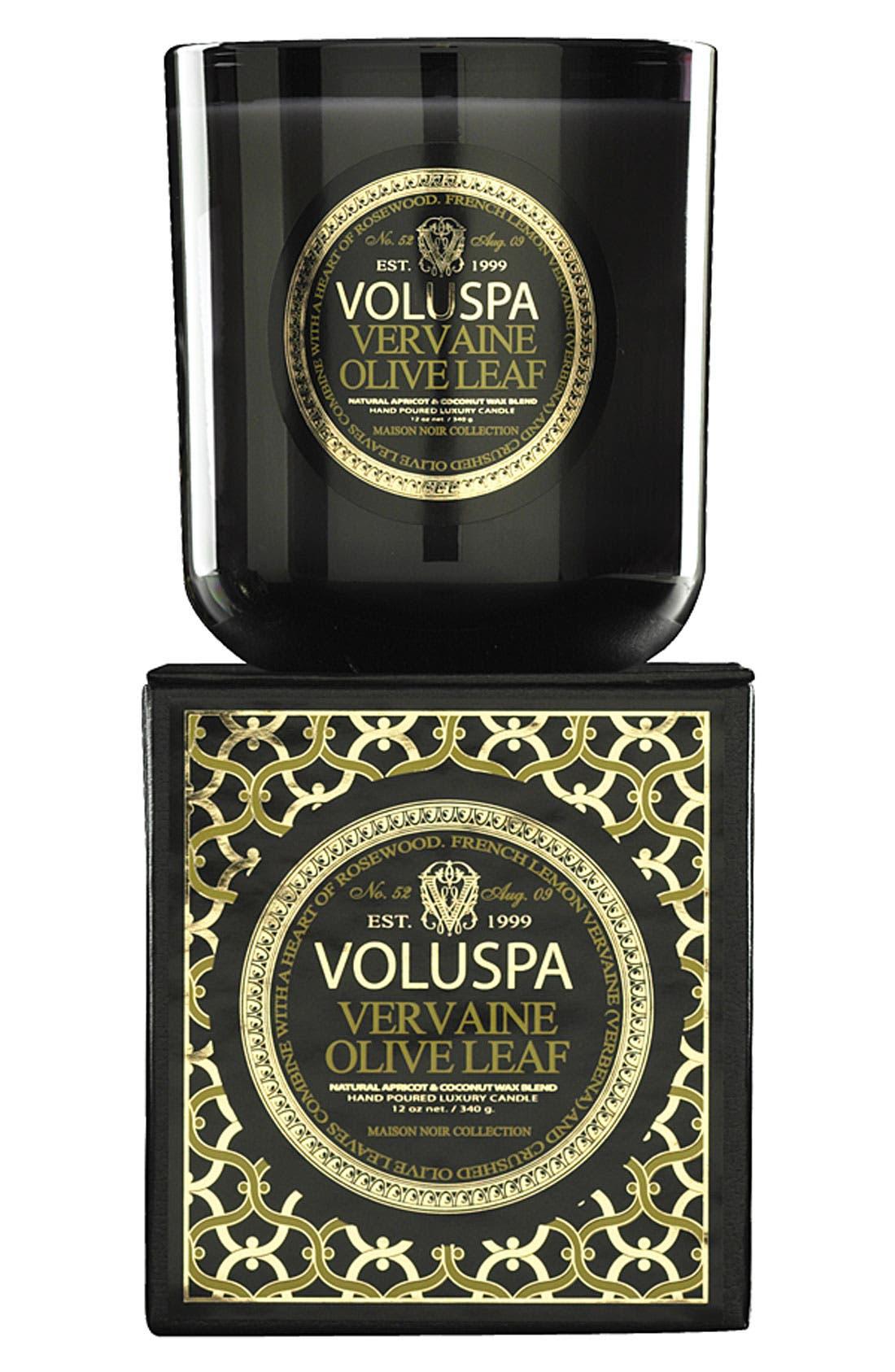 Main Image - Voluspa 'Maison Noir - Vervaine Olive Leaf' Scented Candle