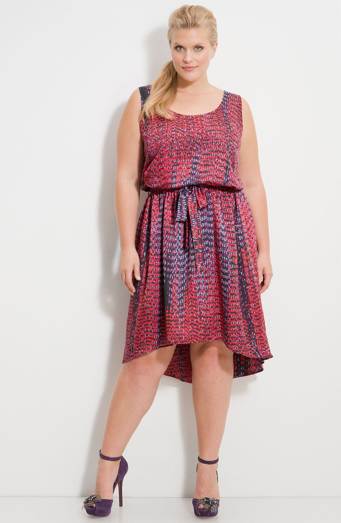 Alternate Image 1 Selected - Eight Sixty Asymmetric Hem Dress (Plus)