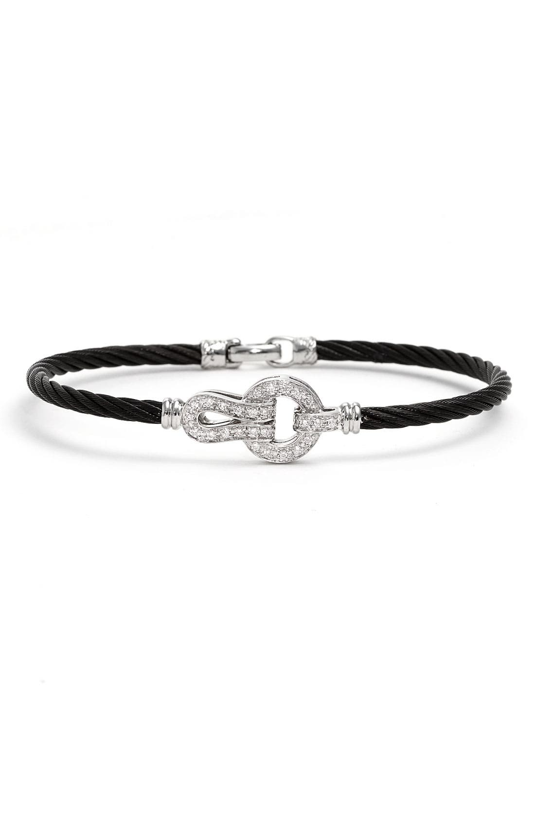 Alternate Image 1 Selected - ALOR® Circle Knot Diamond Bangle