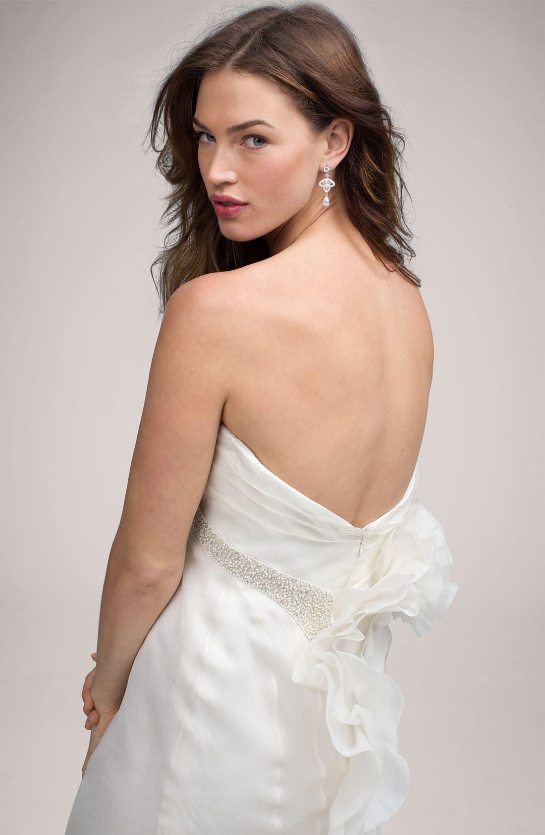 Alternate Image 3  - Carmen Marc Valvo 'Charlize' Organza Gown
