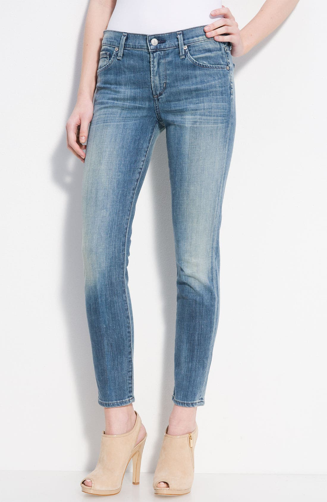 Alternate Image 2  - Citizens of Humanity 'Thompson' Crop Skinny Jeans (True Wash)
