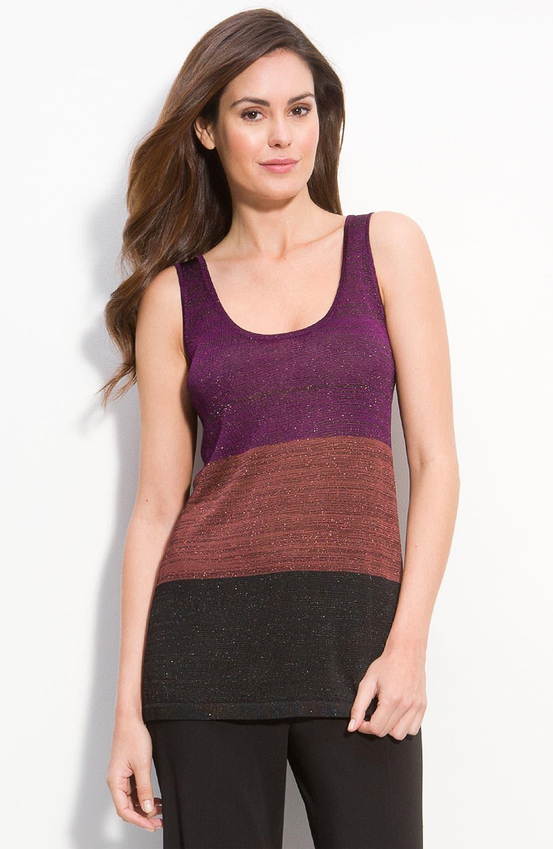 Main Image - White + Warren Colorblock Knit Tank