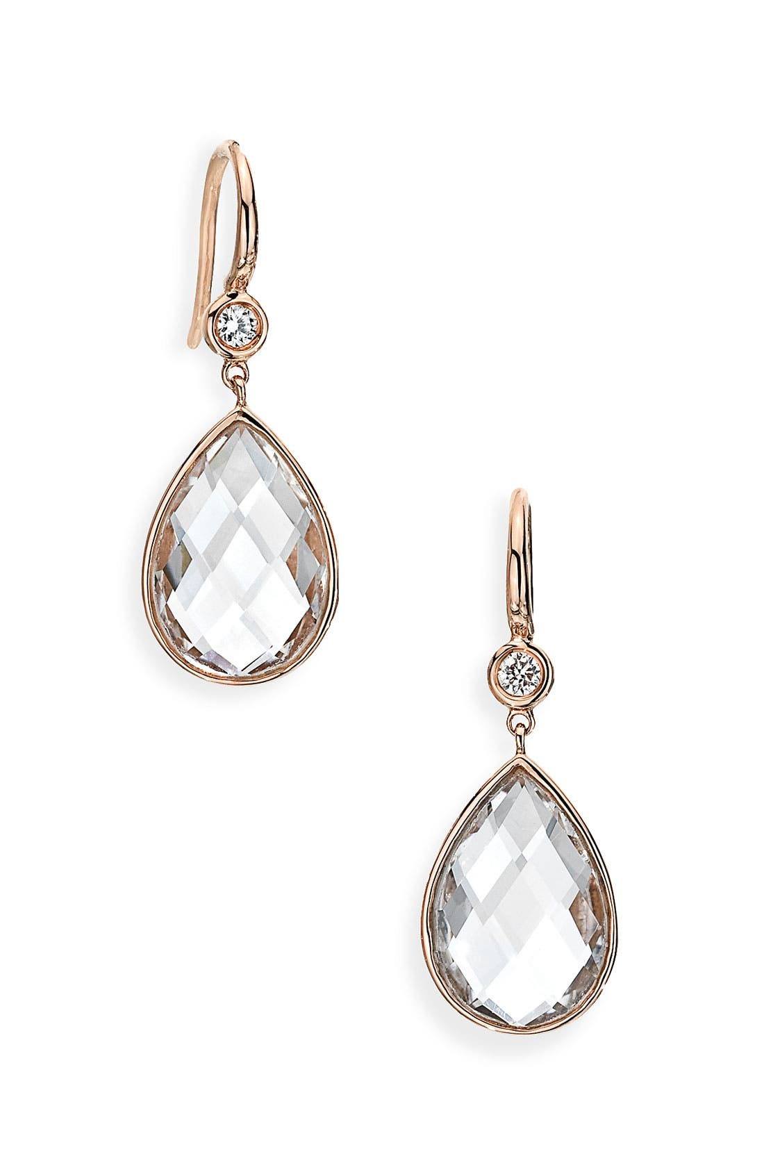 Alternate Image 1 Selected - Ivanka Trump 'Mixed Cut' Diamond & Rock Crystal Drop Earrings