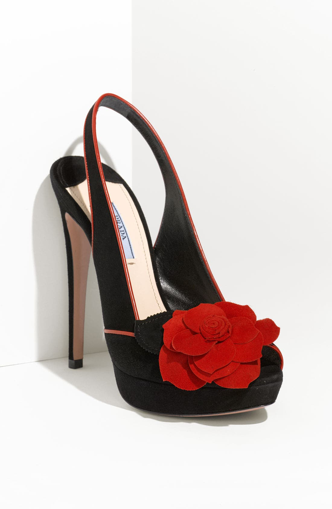 Alternate Image 1 Selected - Prada Rosette Trim Platform Sandal
