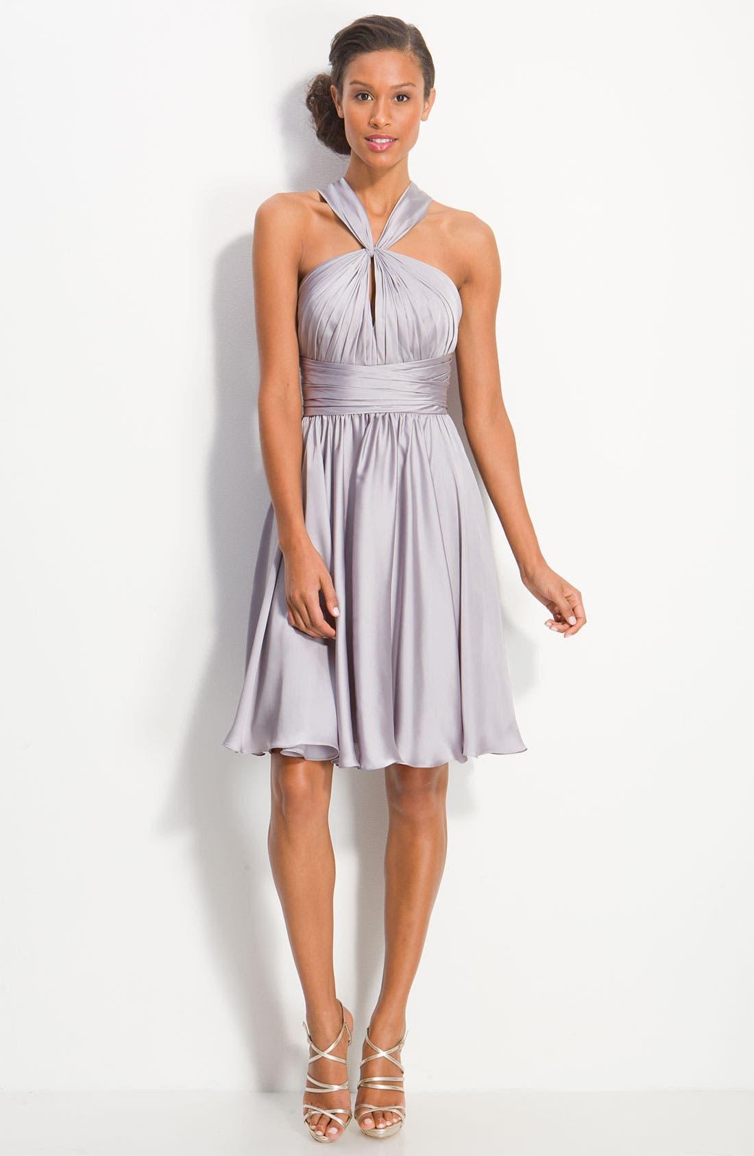Alternate Image 4  - ML Monique Lhuillier Bridesmaids Twist Front Charmeuse Dress (Nordstrom Exclusive)