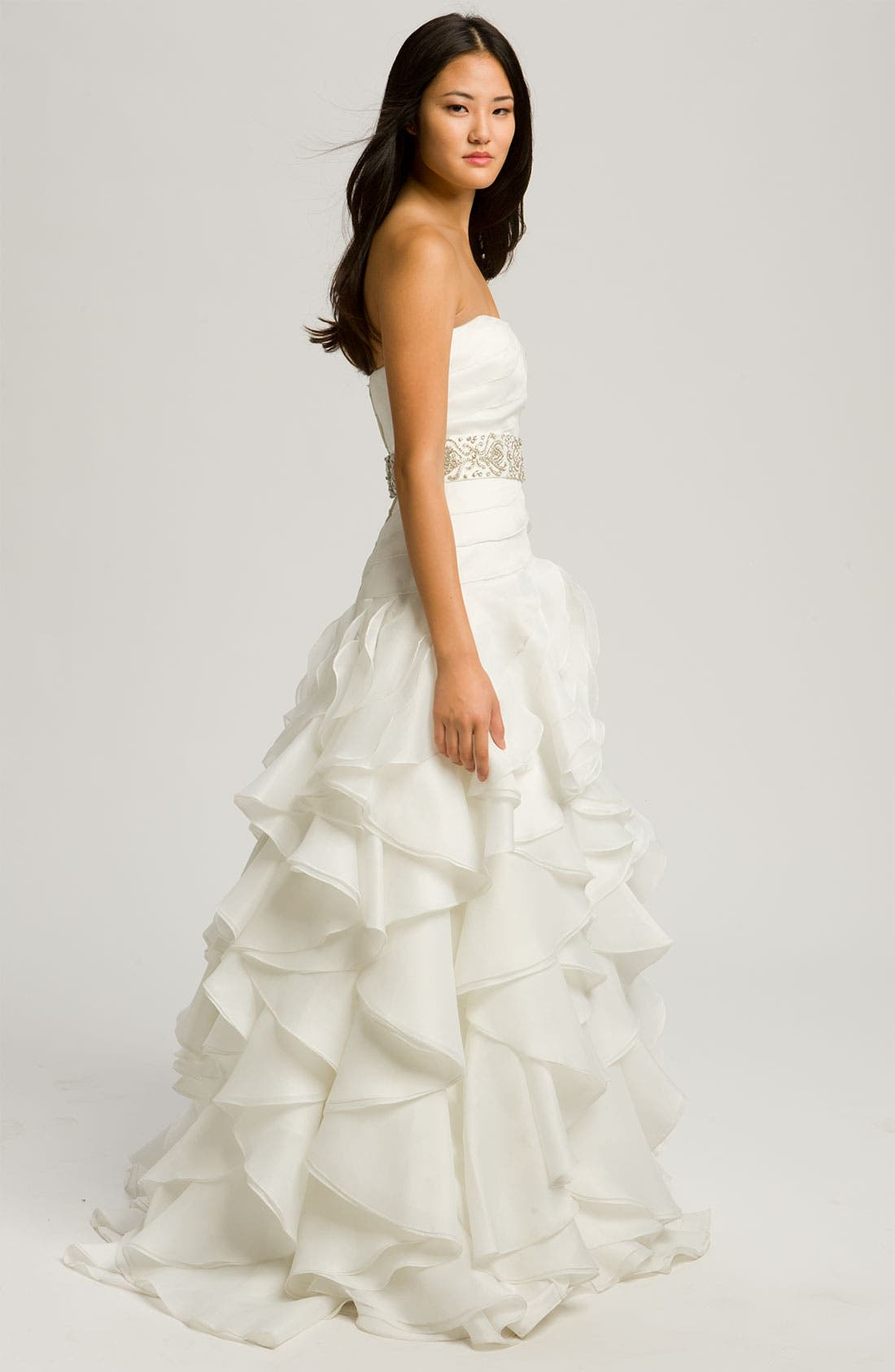 Alternate Image 3  - Faviana 'Chelsea' Strapless Satin-Faced Organza Gown