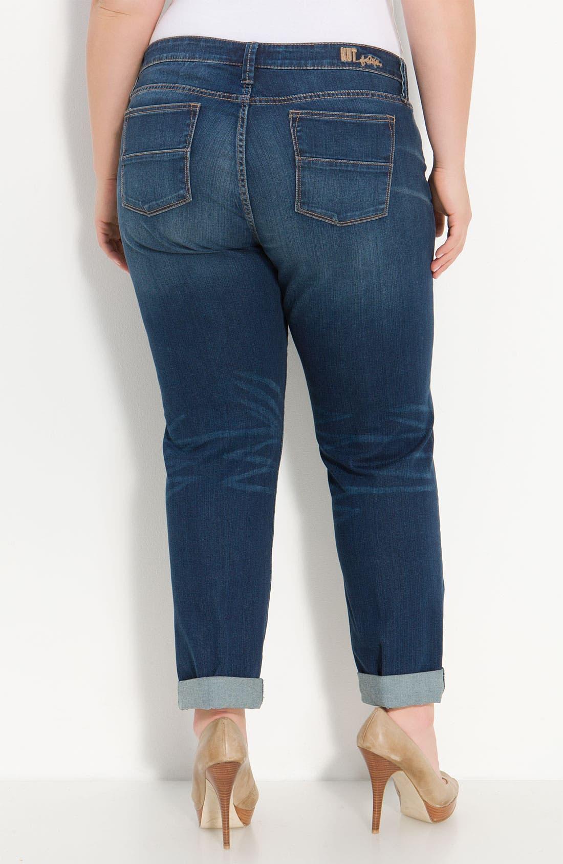 Alternate Image 1 Selected - KUT from the Kloth Crop Boyfriend Jeans (Plus)