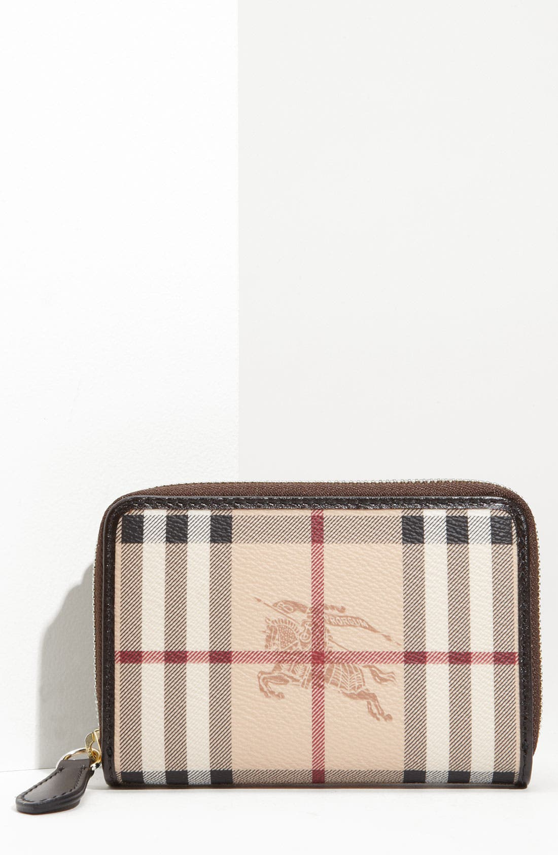 Main Image - Burberry 'Haymarket Check' French Zip Around Wallet
