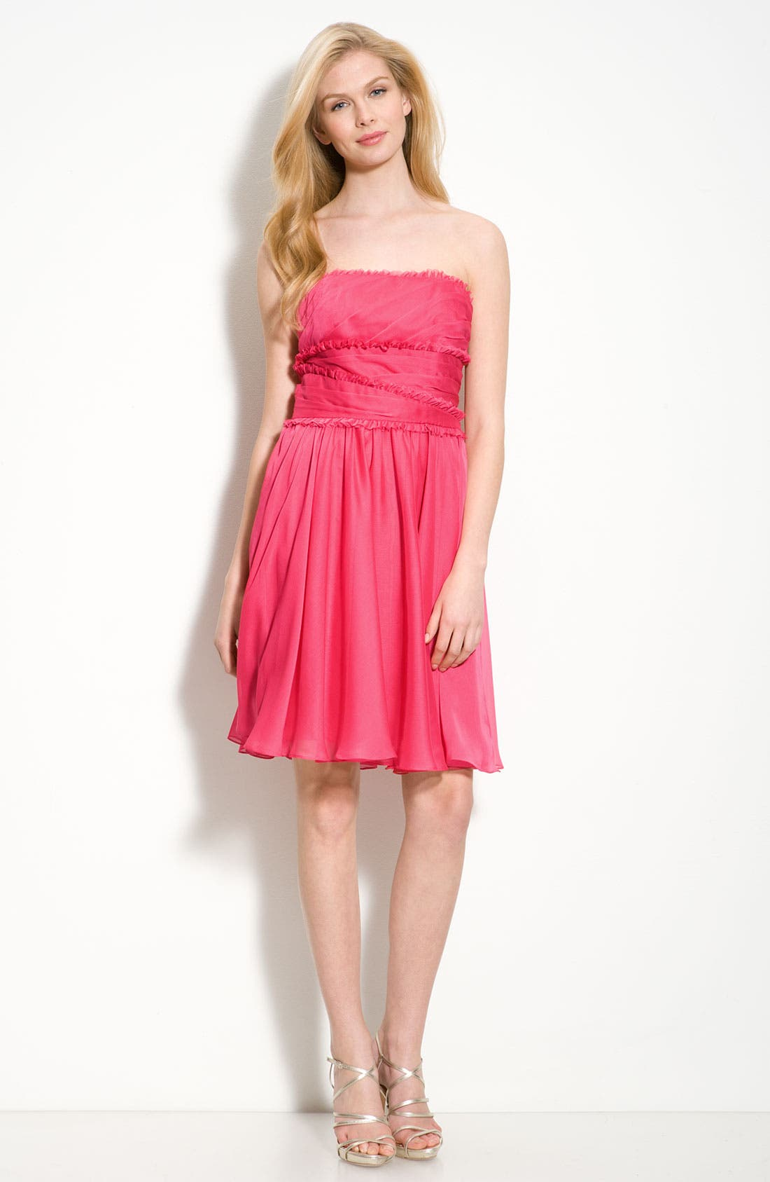 Alternate Image 3  - ML Monique Lhuillier Bridesmaids Ruffle Chiffon Dress (Nordstrom Exclusive)