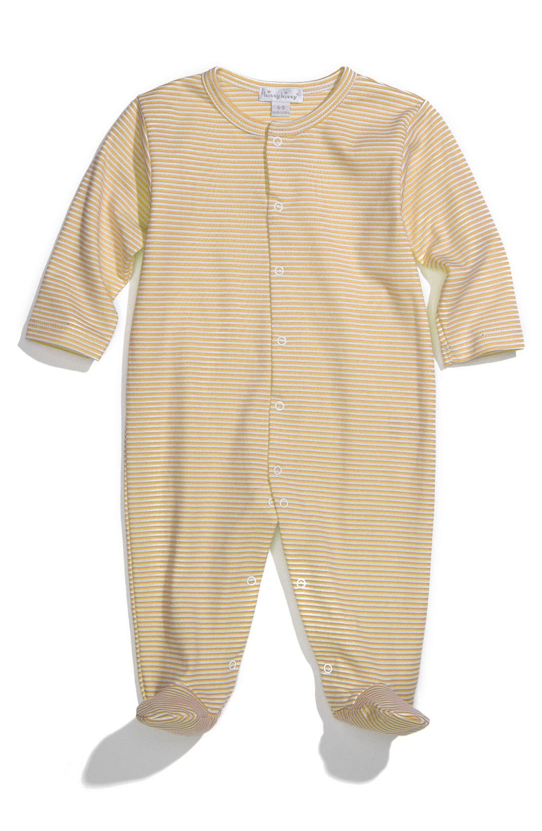Alternate Image 1 Selected - Kissy Kissy Pima Cotton Footie (Baby)