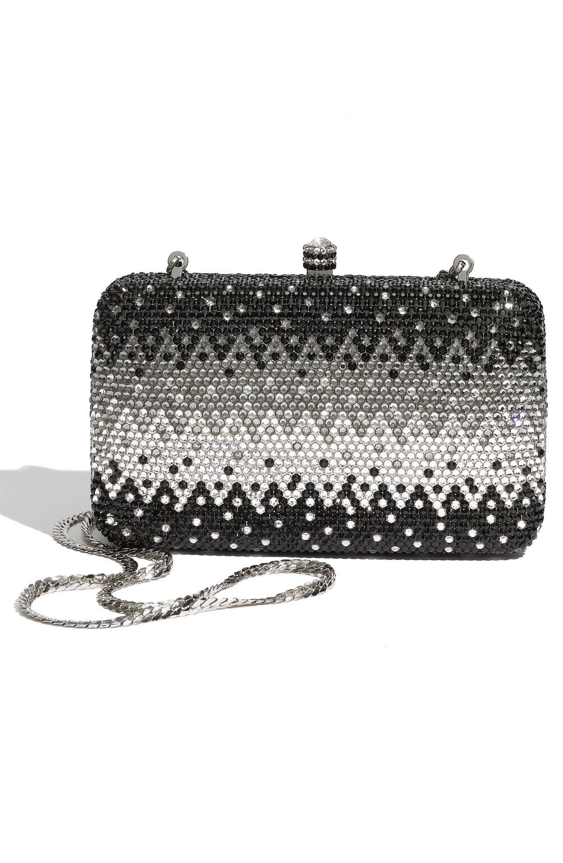 Alternate Image 4  - Natasha Couture Rhinestone Box Clutch