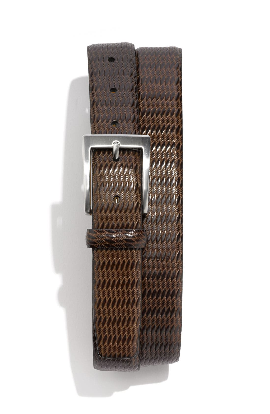 Alternate Image 1 Selected - Trafalgar 'Eastham' Embossed Leather Belt