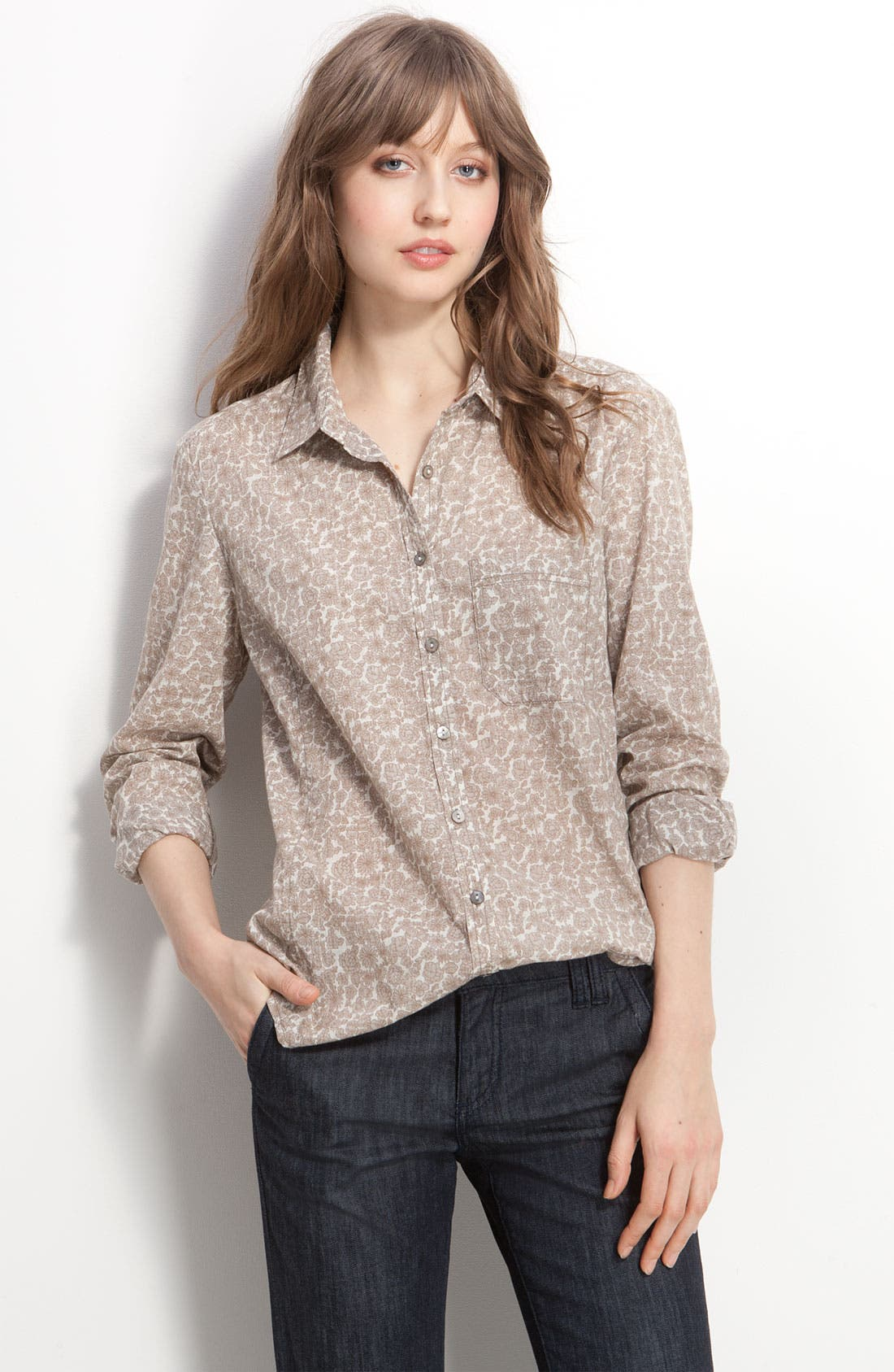 Alternate Image 1 Selected - Caslon® Boyfriend Shirt