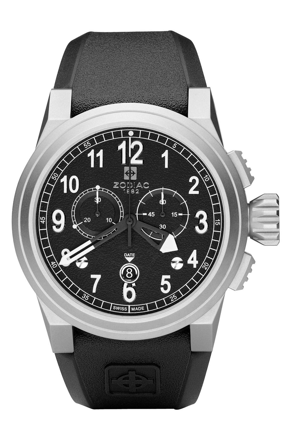 Alternate Image 1 Selected - Zodiac 'Aviator ZMX' Chronograph Watch