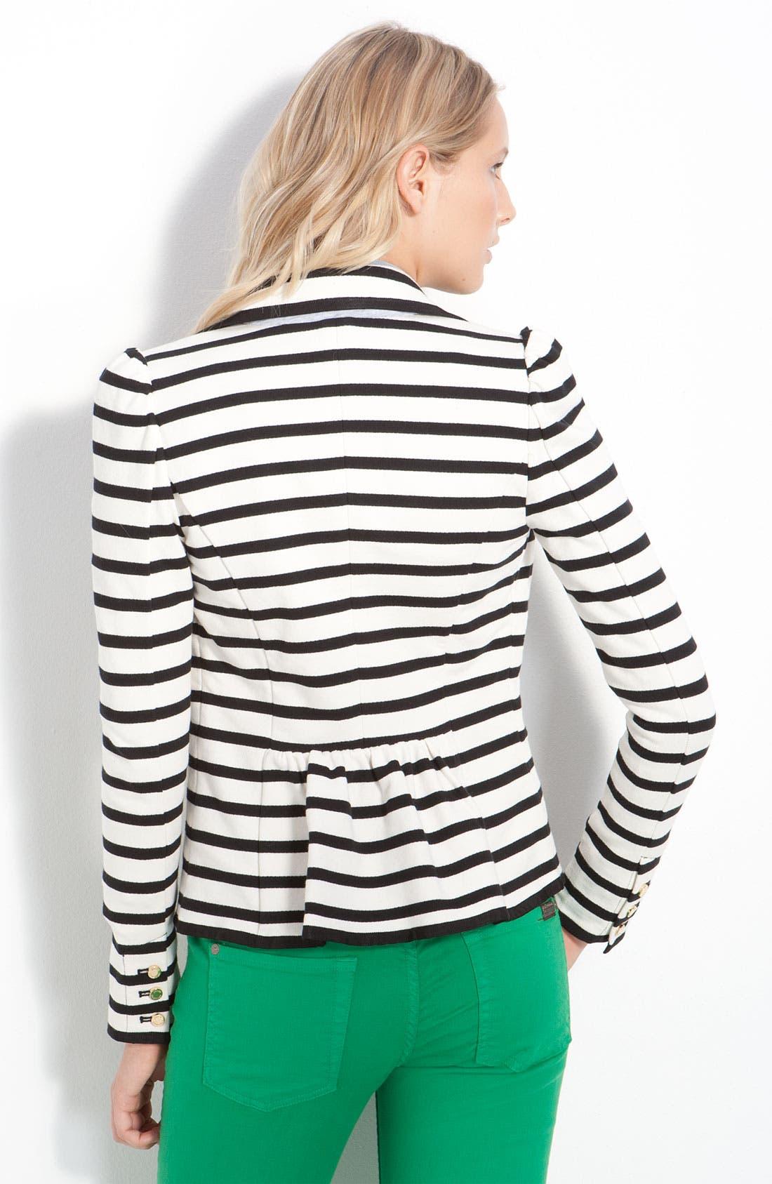 Alternate Image 2  - Juicy Couture Stripe Monogram Blazer