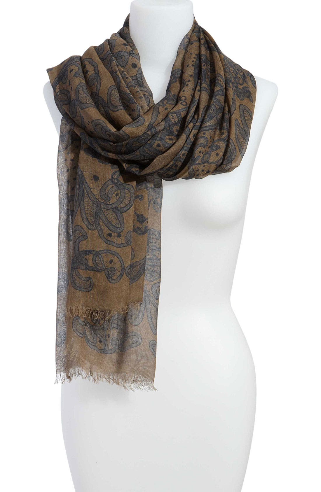 Alternate Image 1 Selected - Alexander McQueen 'Lace Skull' Pashmina