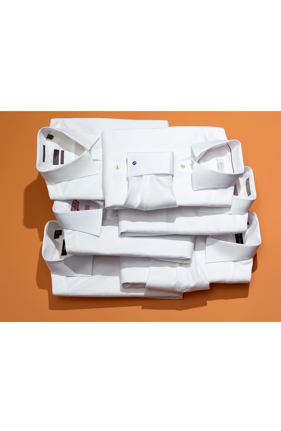 Alternate Image 11  - Nordstrom Men's Shop Smartcare™ Wrinkle Free Traditional Fit Herringbone Dress Shirt
