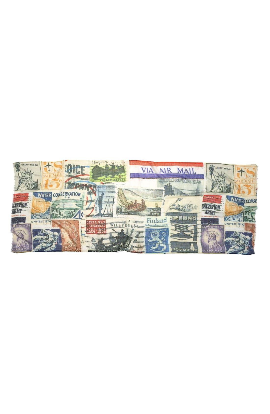 Alternate Image 2  - Shawlux 'Captured Moments - Vintage Stamps' Scarf