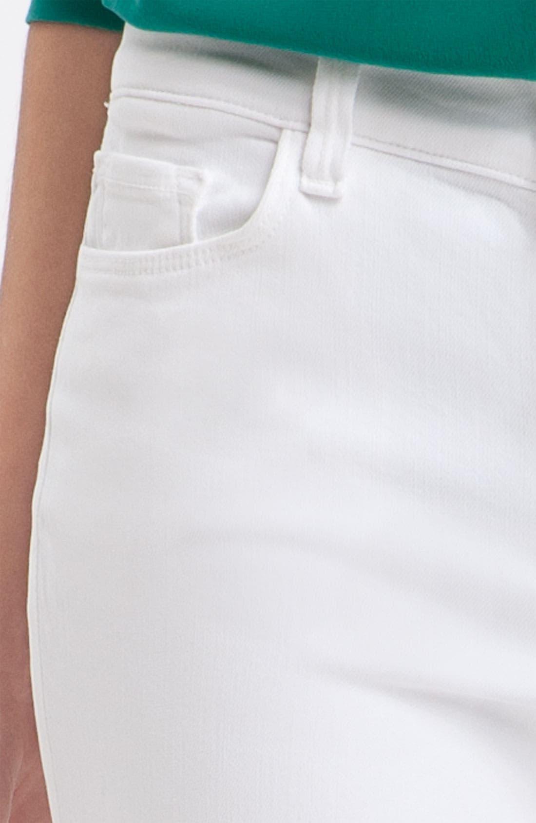 Alternate Image 3  - J Brand Mid-Rise Skinny Jeans (Snow)