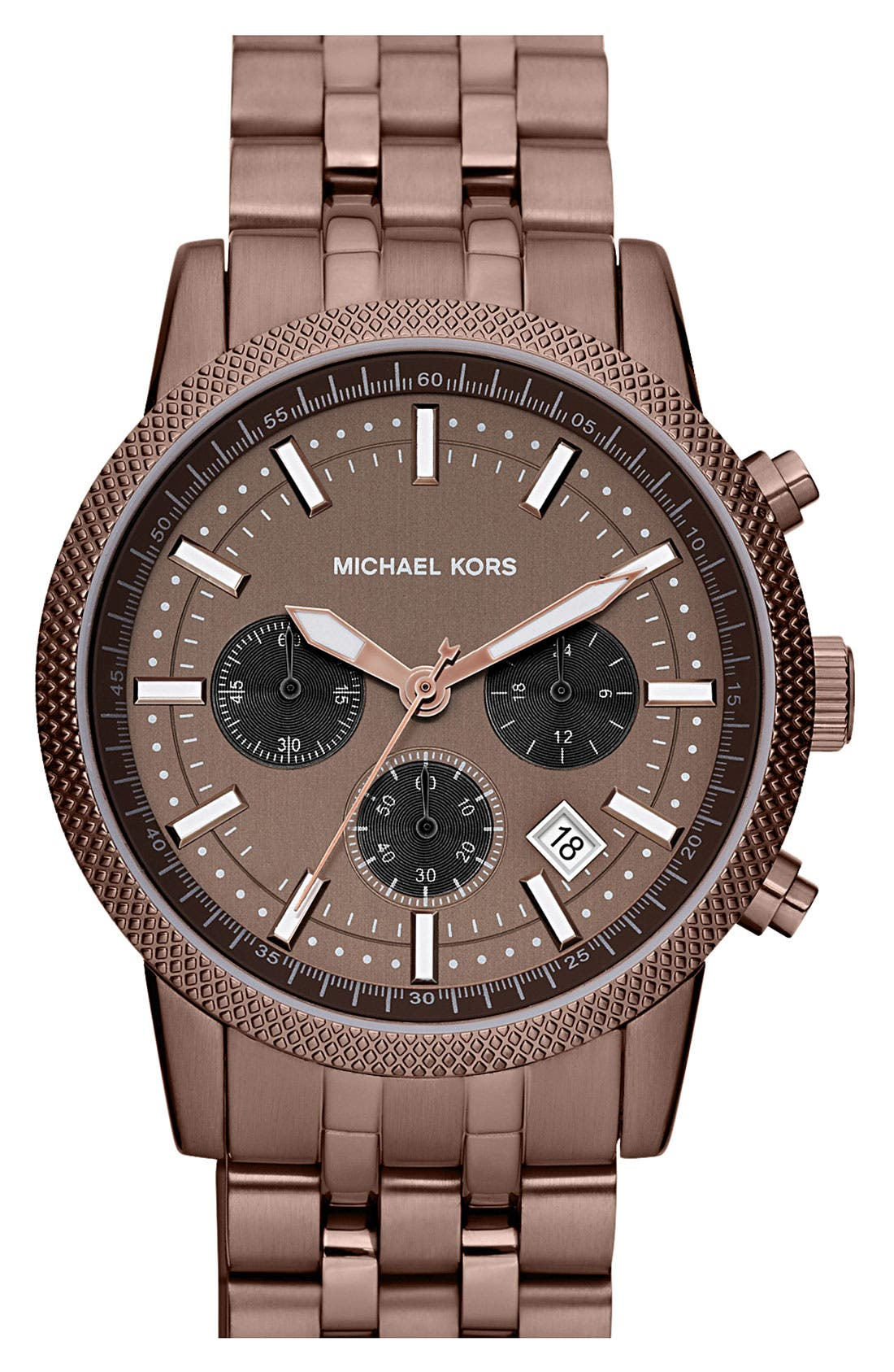 Alternate Image 1 Selected - Michael Kors 'Scout' Knurled Topring Watch, 43mm
