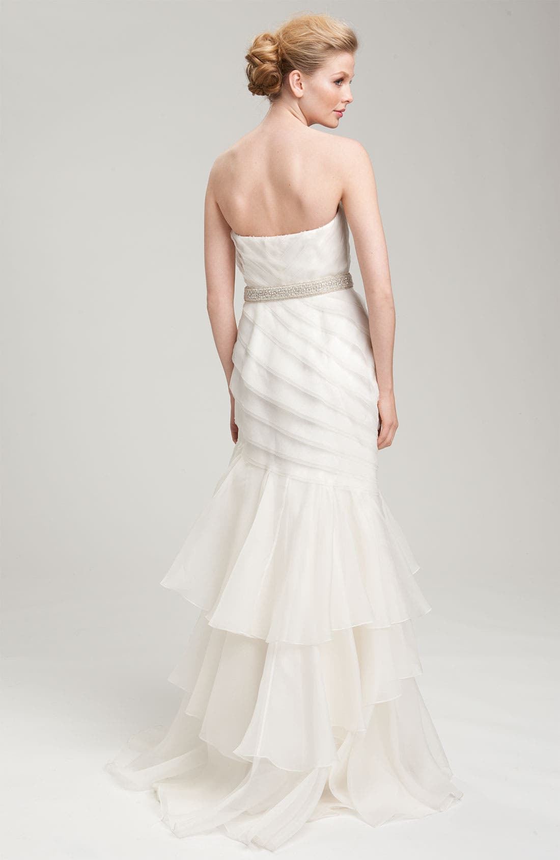 Alternate Image 2  - Theia Strapless Silk Organza Mermaid Gown