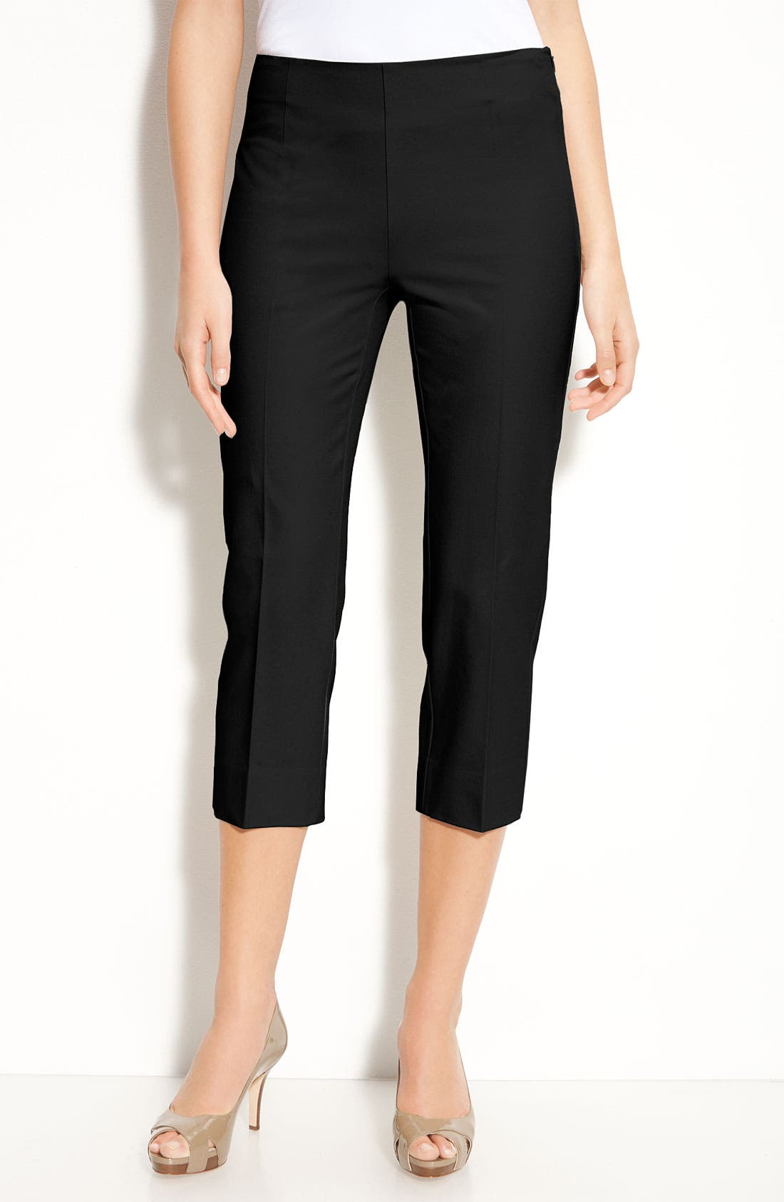 Alternate Image 1 Selected - Gallia Moda Side Zip Crop Pants