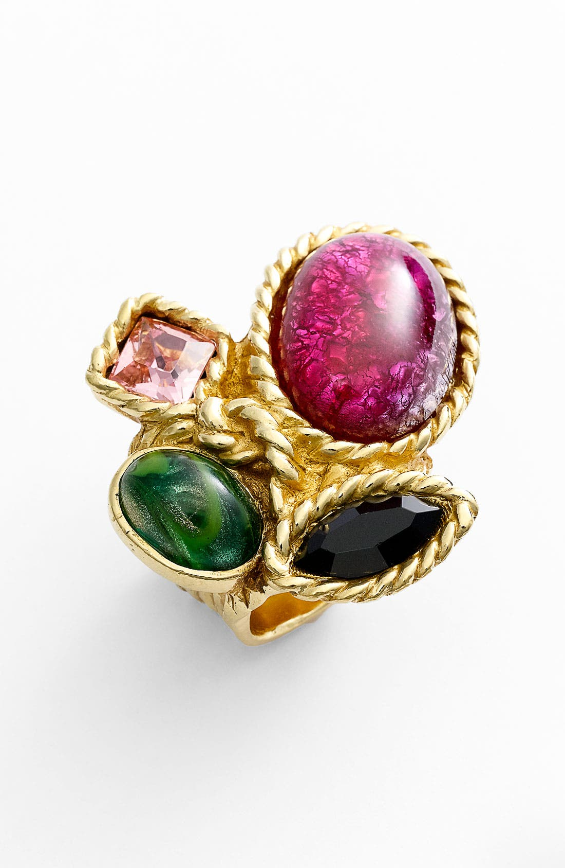 Alternate Image 1 Selected - Yves Saint Laurent 'Arty' Color Cluster Ring