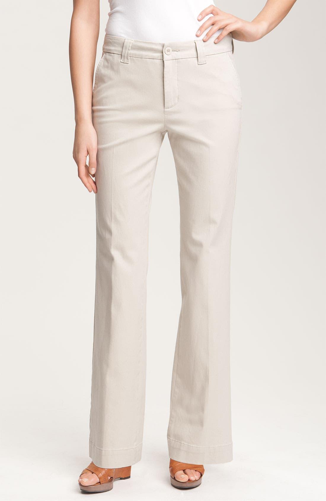 Alternate Image 1 Selected - NYDJ 'Vanessa' Stretch Trousers (Petite)