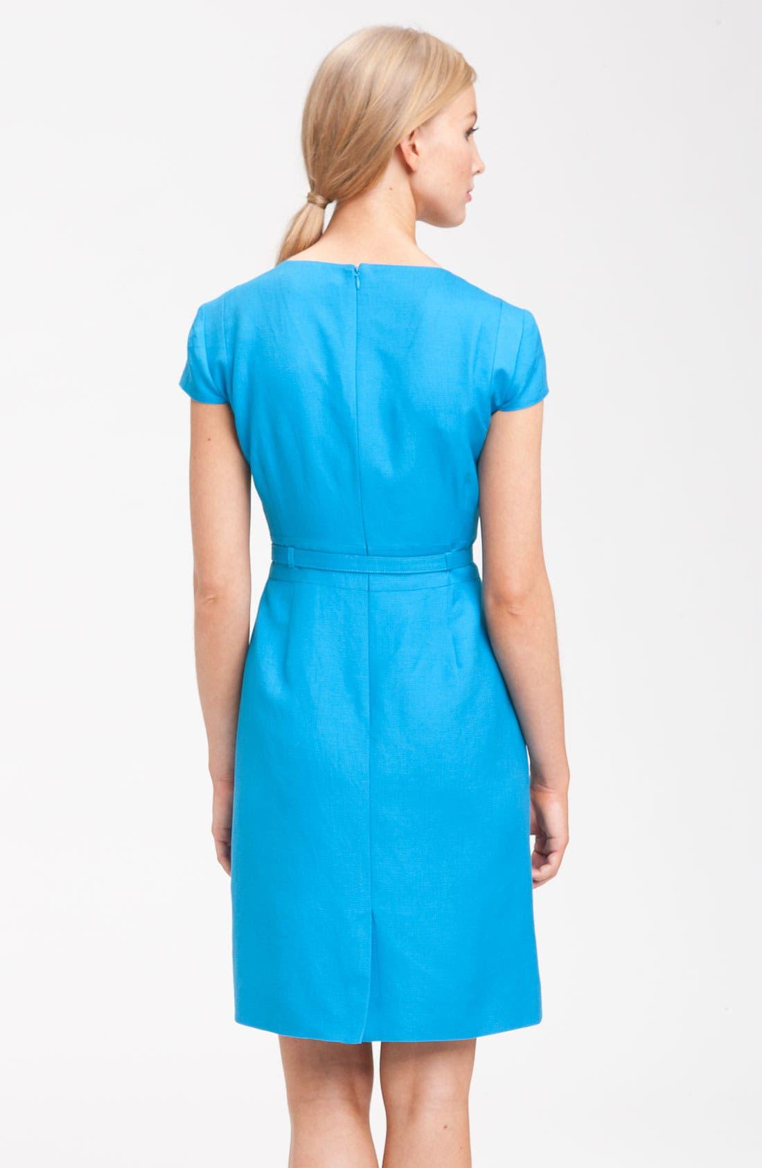 Alternate Image 2  - Tahari by Arthur S. Levine 'Ronni' Belted Ruffle Sheath Dress