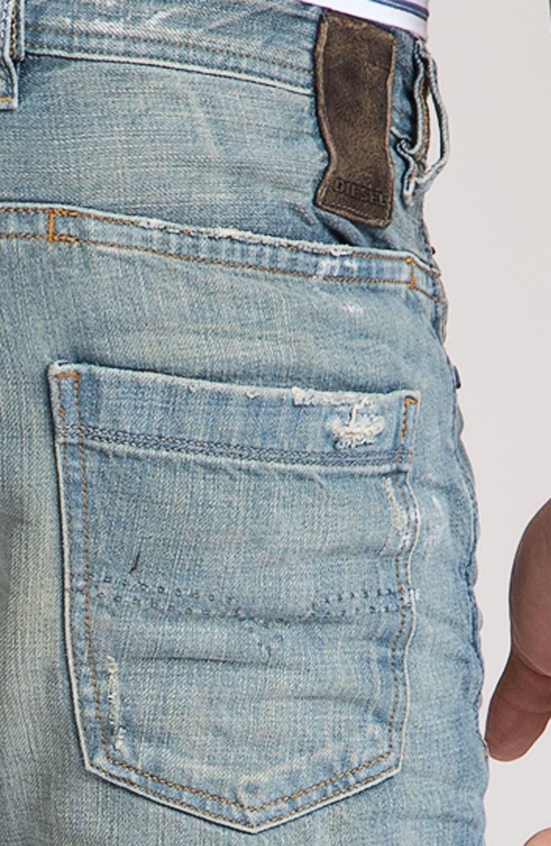 Alternate Image 3  - DIESEL® 'Braddom' Slim Fit Jeans (8880P)
