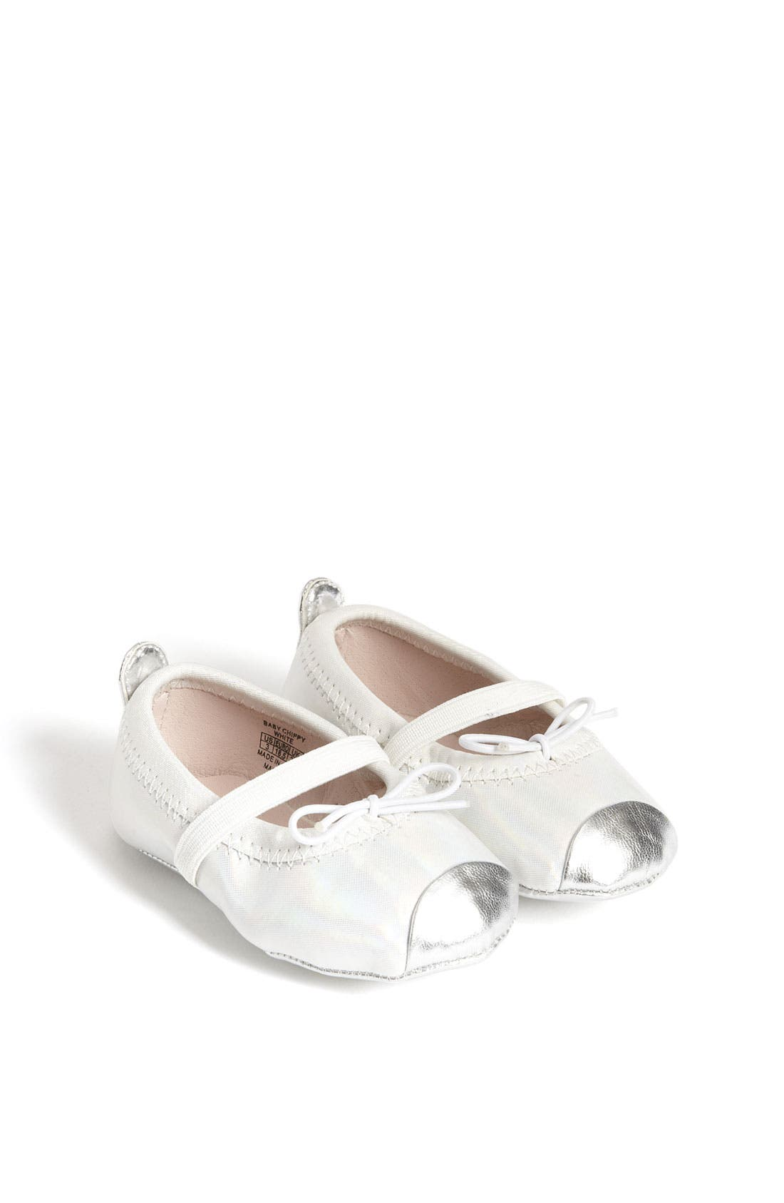 Main Image - Stuart Weitzman 'Baby Chippy' Crib Shoe (Baby)