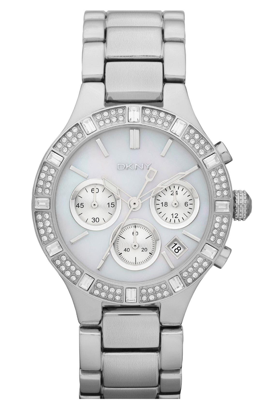 Main Image - DKNY 'Chambers' Medium Round Chronograph Watch, 38mm