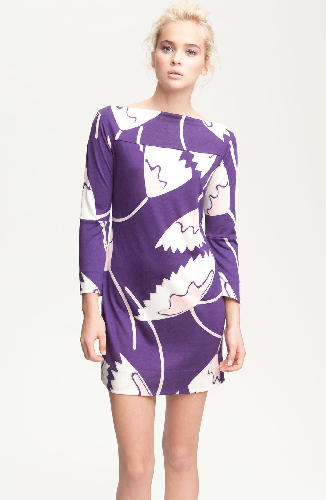 Alternate Image 1 Selected - Diane von Furstenberg 'Ruri' Print Silk Minidress